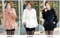 2014 Autumn Winter Long Sleeve Regular  Female Faux Fur Coat 3Colors For choice long sleeve women faux fur coat Fur Outwear