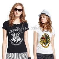 Woman Fashion 3D Galaxy HOGWARTS T-shirts Harry Potter Hogwarts Deathly Hallows T Shirts Short Sleeve Lady Top Shirts