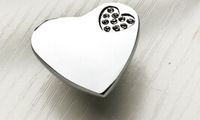 Free shipping 10pcs Modern luxury Heart Crystal K9 drawer  wardrobe door handles  cabinet handle (one holes)