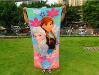 Frozen  100%   Cotton  Beach  Towel  Kids  Bath Towel    150*72cm   5piece/lot