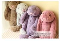 Free Shipping 30cm Lovely Bunny Rabbit Plush Doll Lavender Long Ears Rabbit Plush Toy Doll Kids Toys Girls Birthday Gift
