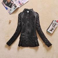 2014 autumn winter new Women's cotton padded jacket Lady shiny coats women's outwear fashion black Jackets flower print