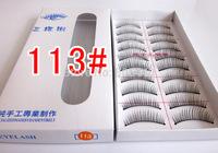 New Arrival 113# Pure Handmade natural false eyelashes beauty tool 10set/lot