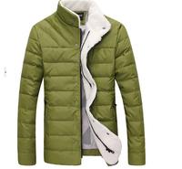New 2014 Men White Duck Down Jacket Winter Outdoors Parka Jaqueta Masculina Baseball Uniform Lovers Clothing Causal Coat