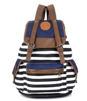 New Arrival Polyester Women's Fashion Striped Backbag With Personalized Designer 4 Color Optional Free Shipping