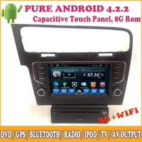 Android For Volkswagen Golf 7 Car Audio Support DVD GPS Radio Video iPod 3G Wifi TV BT SWC Capacitive Touch Screen Multimedia