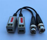 Twisted BNC CCTV Video Balun passive Transceivers UTP Balun BNC Cat5 CCTV UTP Video Balun up to 3000ft Range 5pair/lot