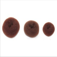 3pcs/lot Free Shipping Wholesale Hair Styling Tool Accessories Hair Roller Bun Ring Donut Shaper Maker 300007
