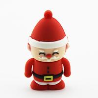Retail 2gb 4gb 8gb 16gb 32gb 64gb Cartoon Christmas Santa Claus USB Flash Drive Memory Stick Pen Drive free shipping