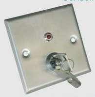 Door Release Button with KEY and LED and Stainless Steel material for electric door lock Type806LE
