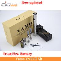 stainless vamo v5 with LCD,ecig vamo v5 Variable Voltage Battery 2*1.6ml CE4 Atomizer Electronic Cigarette vamo v5 starter kit