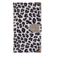 Leopard Wallet Leather Flip Case Cover White for Samsung Galaxy Note3 V3NF