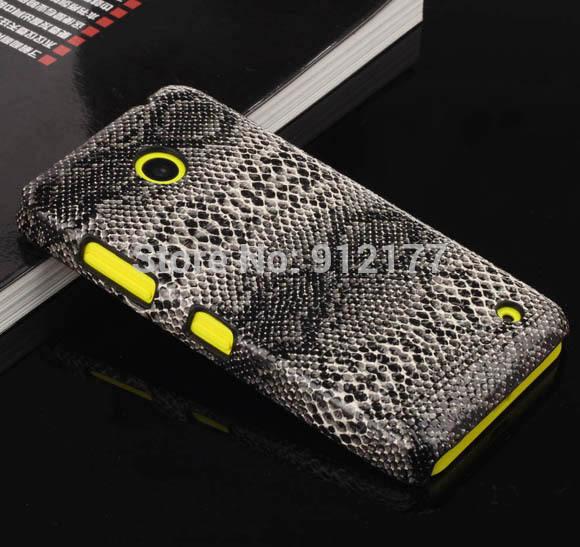 Grey Snake Skin Hard Case Protective Phone Cover for Nokia Lumia 630 case + Screen Film(China (Mainland))