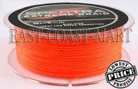 PE Dyneema Braided Fishing Line 300M Orange 15LB 0.16mm 328 Yard Spectra Braid