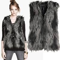 Women Winter Faux Fur Warm Short Vest Coat Outwear Jacket Waistcoat Tops Size M-XXXL SV005841