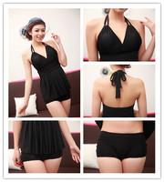 New Ladies Summer Dress 2014 Womens Sexy Push Up Swimwear 2 Pieces Bathing Suit Dress Set Tankini Set Plus Size Beachwear
