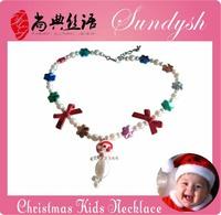 Trendy Handmade Chunky Beads Christmas Father Pendant Christmas Jewelry