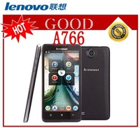 New Original Lenovo A766 5 Inch IPS Mtk6589M Quad Core Mobile Phone Russian 5.0MP Multi Language with Gift Free Shipping