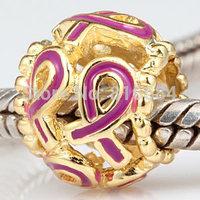 Free Shipping (1pcs/lot ) European Charm Beads 925 Sterling Silver Ribbon Big Hole Beads Fit Charms Bracelets DIY