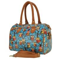 Fashion Womens Owl Printed Shoulder Messenger Bag Crossbody Satchel Handbag Tote Bag(QQ1719) - Blue