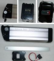 Free shipping NOT BATTERY 1set slim bar type e-bike battery Aluminum case Al case for 36V48V 10Ah DIY repair exchange battery