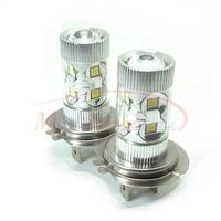 H7 High Power 50W Fog Light Headlight Driving Daytime Running Light 6000K Samsung LED Chip Lamp Xenon White DC 12V-24V 2pcs/lot