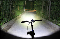 3000 Lumens High Power CREE 3 Head XML T6 LED Bicycle Bike Front Cycling Lights Head Lamp 2 in 1 Aluminum alloy Waterproofing