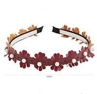 Min order 10usd 2014 New Fashion Imitation Pearl Flower Hairbands