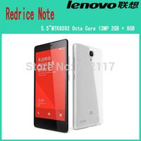 "Original Hongmi Mobile Phone Snapdragon 8928  Octa Core 5.5"" 1280x720 2GB RAM 8GB ROM 13MP Xiaomi Redmi Note WCDMA Red Rice Note"