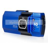 Original AT550 Full HD car dvr camera Novatek 96650 1080P 30FPS G-Sensor WDR HDMI 148 degrees wide Angle Night vision (Blue)