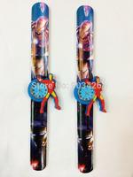 100pcs/lot ! 2014 Fashion Iron Man Children Slap Watch Cartoon Snap Watch For Boys Silicone Wrist Watch G4035 Free Shipping
