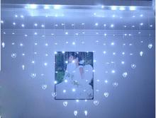 2x1.6M led curtian light decoration light for wedding indoor home decor Heart led string light AC220V(China (Mainland))