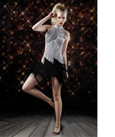 Free shipping new sequins halter backless sexy fantasy pole dance dress sexy lingerie for women CXWC-1118