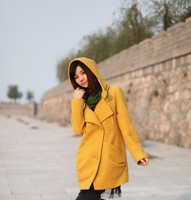 Autumn and winter Couture thickened wool coat, long Korean cultivating wool woollen overcoat female