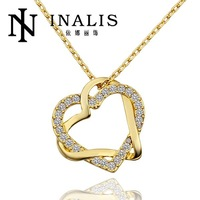 N586 Wholesale! Nickle Free Antiallergic 18K Real Gold Plated Jewelry Valentine Ideal Gift Top Selling, Free Shipping