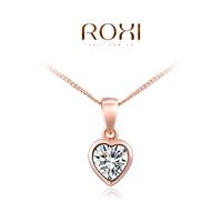 8.19 ROXI brand 2014 fashion necklace rose Gold Crystal Necklace pendants with austrian crystal  necklace trendy fashion jewelry