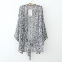 L270 2014 autumn women's loose plus size fashion batwing sleeve snake print chiffon kimono