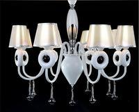 Fashion modern pendant light white romantic simple european rustic tieyi brief cutout lamps