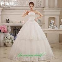 2014 sweet vintage bandage tube top wedding dress princess bride wedding dress vestido de novia vestido de noiva 095
