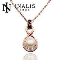 N607 Wholesale! Nickle Free Antiallergic 18K Real Gold Plated Necklace & pendants New Fashion Jewelry For Women, Free Shipping