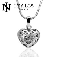 N020 Wholesale! Nickle Free Antiallergic 18K Real Gold Plated Hollow Heart Fashion 18K Golden Heart Jewelry, Free Shipping