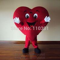 2014 Christmas Red Heart Cartoon Mascot Costume Halloween Fursuit Fancy Dress Mascot Costume