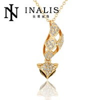 N616 Wholesale! Nickle Free Antiallergic 18K Real Gold Plated Animal Style Fox Shape Fashion Necklace, Free Shipping