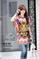 New Arrival Fashion Women Bohemian Dresses Plus Size Ice Silk Hot Selling Loose Novelty Print Dress Soft Comfortable