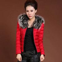 Parka Womens Winter Coats 2014 Warm Fur Collars Short Colorful Snow Women Down Coat Plus Size Casaco Feminino Inverno WWM336