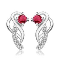 Free Shipping 925 Sterling Silver Earrings,Fashion 925 Sterling Silver Crystal Earrings,Wholesale Fashion Jewelry,WJKNE499
