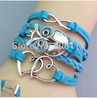 DHL Free shipping to USA 110pcs/lot Big fashion summer bracelet men leather bracelets & bangles for women