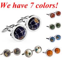 Fashion Cuff Link Globe Cufflink 1 Pair Free Shipping Crazy Promotion