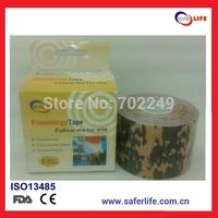 waterproof cotton therapeutic precut muscle camo prints Camouflage kinesio kinesiology tape