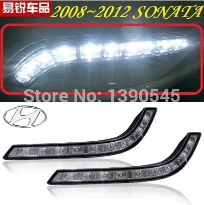 Дневные ходовые огни Hyundai ! 2008 2pcs /set + , 15W 12V, 6000K, дневные ходовые огни hyundai ix35 2010 2pcs set 15w 12v 6000k